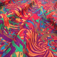 服地やグッズをプリントジャガード織りで作ってまいます