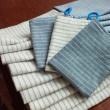 ブルー&ホワイトの手作り布巾…♪