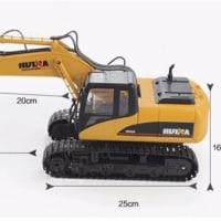 新品登場 HuiNa Toys 1550 15CH 1/12RC メタル 掘削機 充電 RC カー