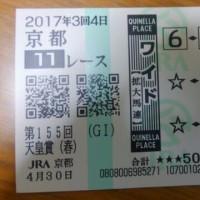天皇賞の馬券