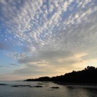 須野漁港の夕暮れ