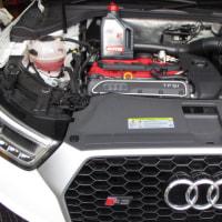 AUDI RSQ3のエンジンオイル交換です。