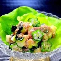 ほっぷ アケミーナの楽しい食卓45 ズッキーニのとろっとカクテルサラダ  【野菜とワインのソムリエ アケミーナ(山口県)】