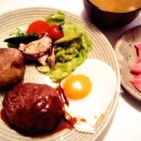 例の頂き物の熟成肉ハンバーグは