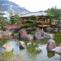 絵葉書の日本庭園