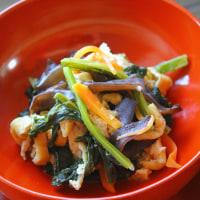 かぶ葉と木耳の炒め煮