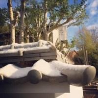 カフェ・雪景色