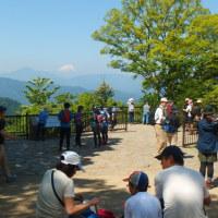 高尾山で富士山