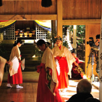 「御神子舞」はとても厳かで神聖な踊りでした。 (Photo No.14055)
