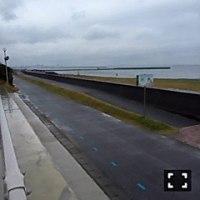 雨の中震えながら稲毛海浜公園