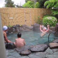 露天風呂で(風呂の日)