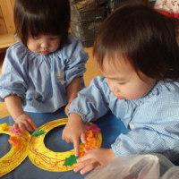 しろ 1歳児 リース作り☆戸外遊び