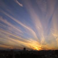12月8日(木)ダイヤモンド富士-大和田小学校前陸橋