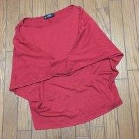11/28 妻の赤いシャツ ちょっと毛玉が…