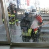 草加市消防西分署の消防訓練を見学して