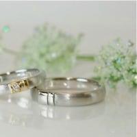 ご結婚指輪のオーダーメイドはデザインを揃えて。。