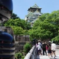 大阪城へ(船ネット)