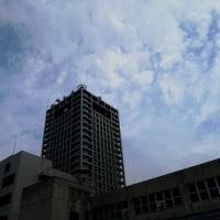 高松日赤屋上から高松市街望遠