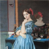 模写「聖パウロの昇天」「ドーンヴィル伯爵夫人の肖像」