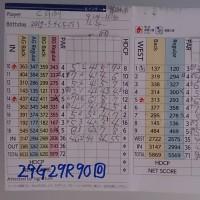 今日のゴルフ挑戦記(109)/東名厚木CC イン(B)→ウエスト