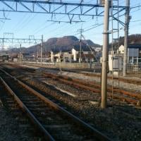沼田駅越しの谷川岳