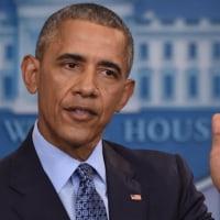 オバマ大統領が任期最後の会見、次期政権をけん制