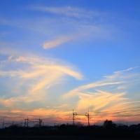 掻き乱された雲