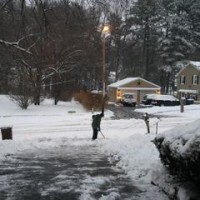 雪の月曜日-Snowing Monday