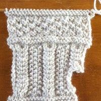 年始編み物、くじける