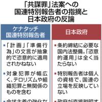「共謀罪」法案、国連軽視の日本政府