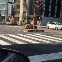 交差点であわや事故寸前でした