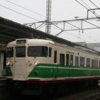 しなの鉄道 115系電車。旧長野塗装復刻(軽井沢駅で撮影会)