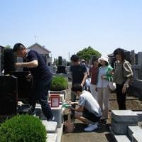 酷暑の中のお墓参り