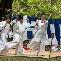 高畑年祢神社の田植え祭り 2017