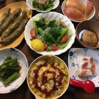 今夜の我が家の夕食