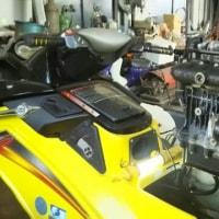 ボンバルディア SEA-DOO GTX 4TEC SC エンジン脱着