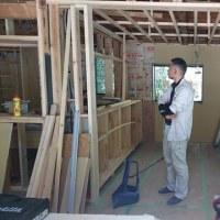 久米郡美咲町で住宅リノベーション工事現場で造作家具取付工事