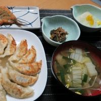 鰯フライと、餃子の炊屋食堂定食 ! 350円