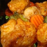 鶏唐揚げと彩野菜の黒酢あん弁当
