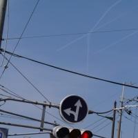 飛行機雲と車いす駅伝