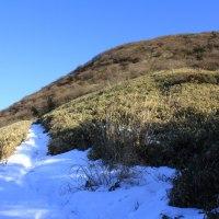 彩雲流れる富士山 端足峠から竜ヶ岳へ  平成29年1月18日