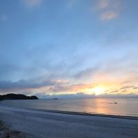 1/15 雪景色の七里御浜海岸(熊野古道 浜街道)