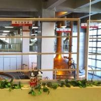 とりでのひなまつりに参加中のキリンビール取手工場の「ひなまつり」と工場を見学す