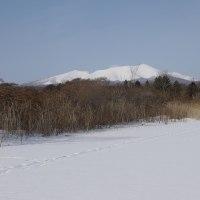 白銀の「大雪原&樽前山」