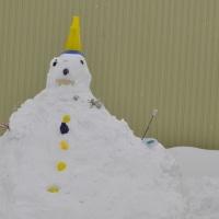 雪だるま完成