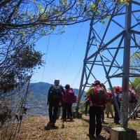 13 二ヶ城山(483m:安佐北区)登山  2番目の鉄塔に