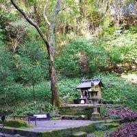 幸加木神社の石橋と滝(2)