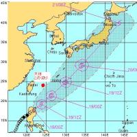 台風4号ですよ奥さん