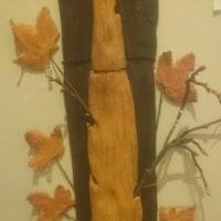 秋の大きな木とスーさん一家