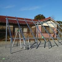太陽光発電システム-架台組立